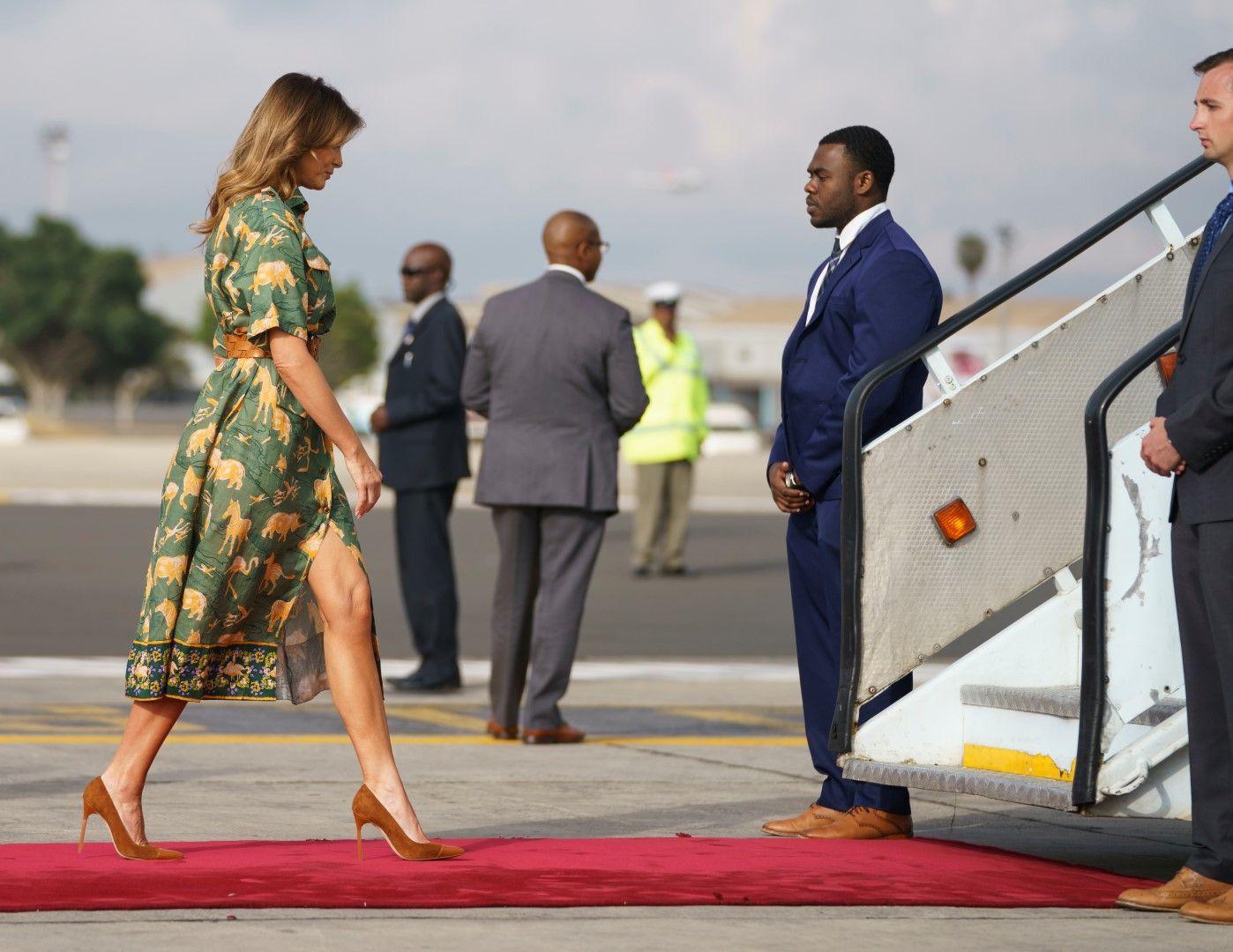 Мелания на път от Найроби към Египет