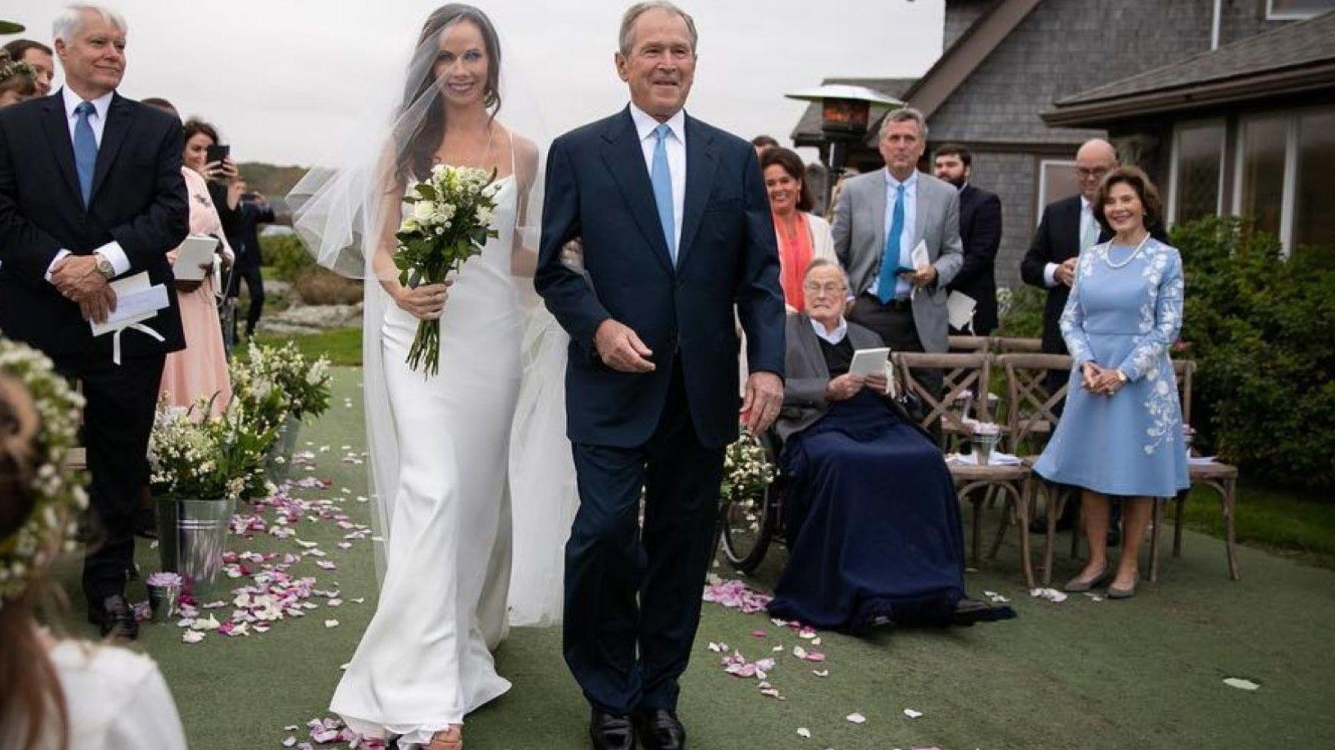 Джордж Буш омъжи дъщеря си за сценарист (снимки)