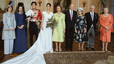 Симеон и Маргарита на сватбата на годината в испанския кралски двор (снимки)