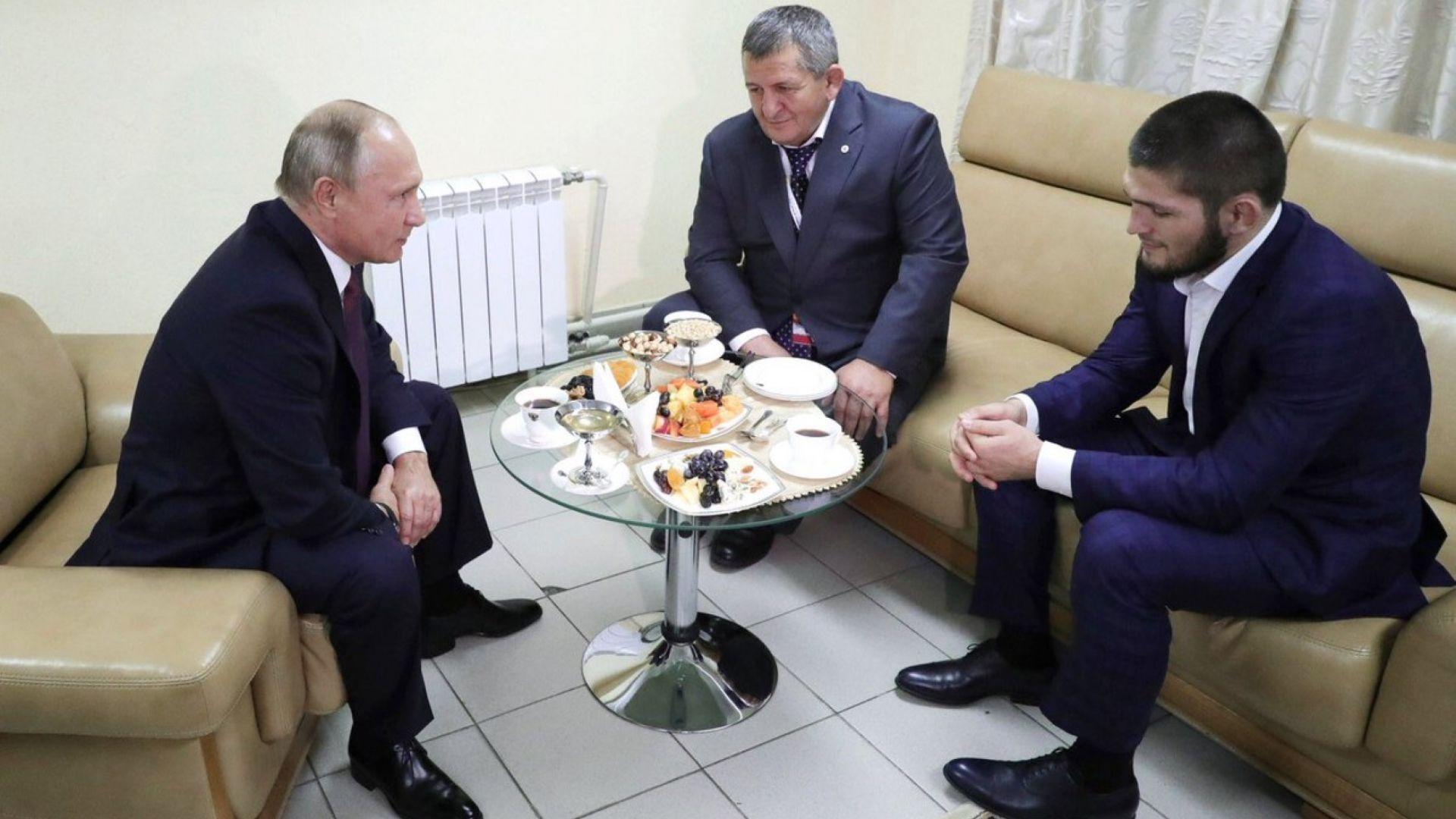 Путин лично поздрави шампиона Хабиб