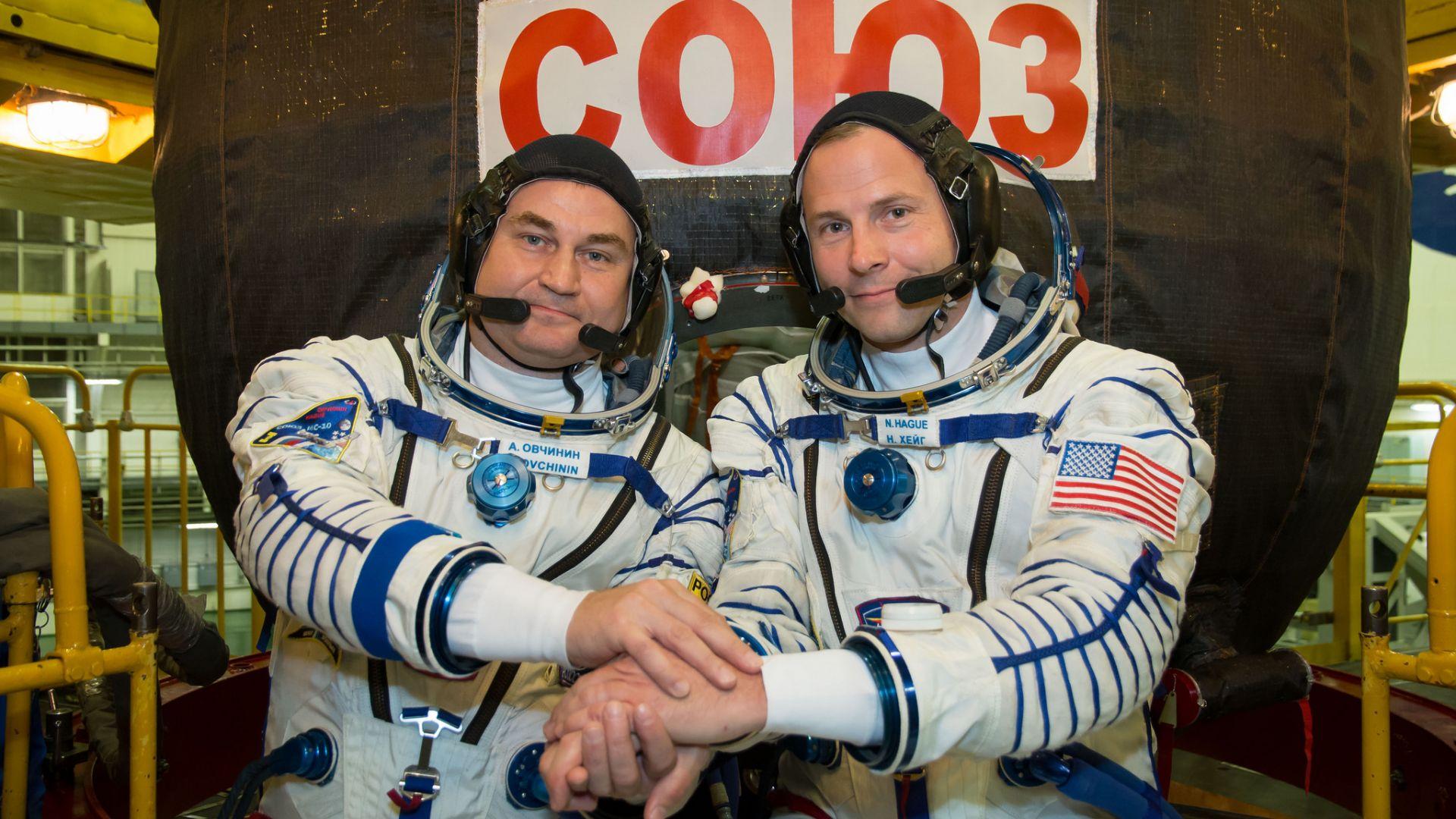 Космонавта на Роскосмос Алексей Овчинин и астронавта на НАСА Ник Хейг