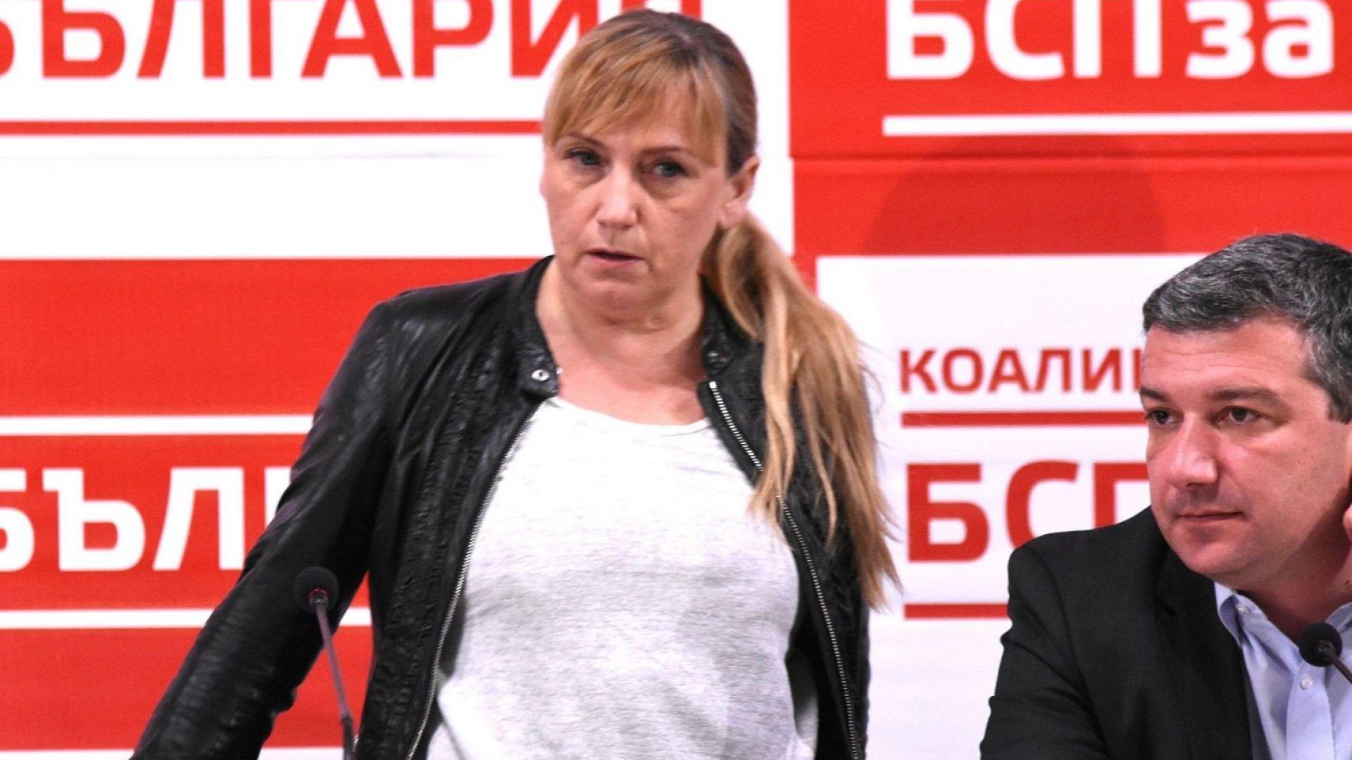 Елена Йончева хвърли микрофон, ядосана от въпрос за Цветан Василев