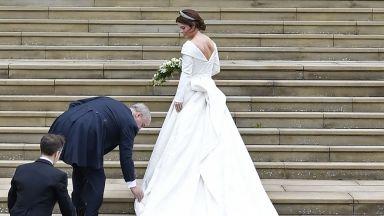 Всичко за специалната сватбена рокля на принцеса Юджени (снимки)