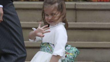 Малката шаферка Шарлот блесна със стил на кралица (галерия)