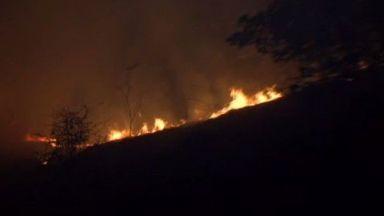 Огромен пожар край Пазарджик