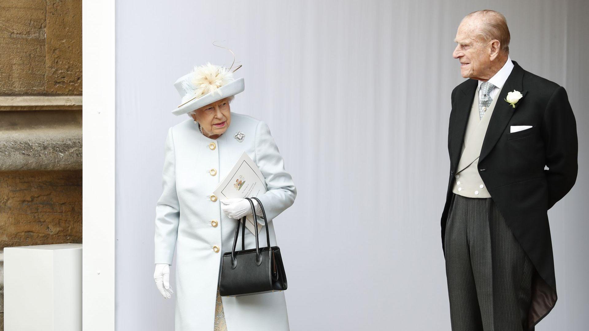 Елизабет II (92) и принц Филип (97) на сватбата на внучка си