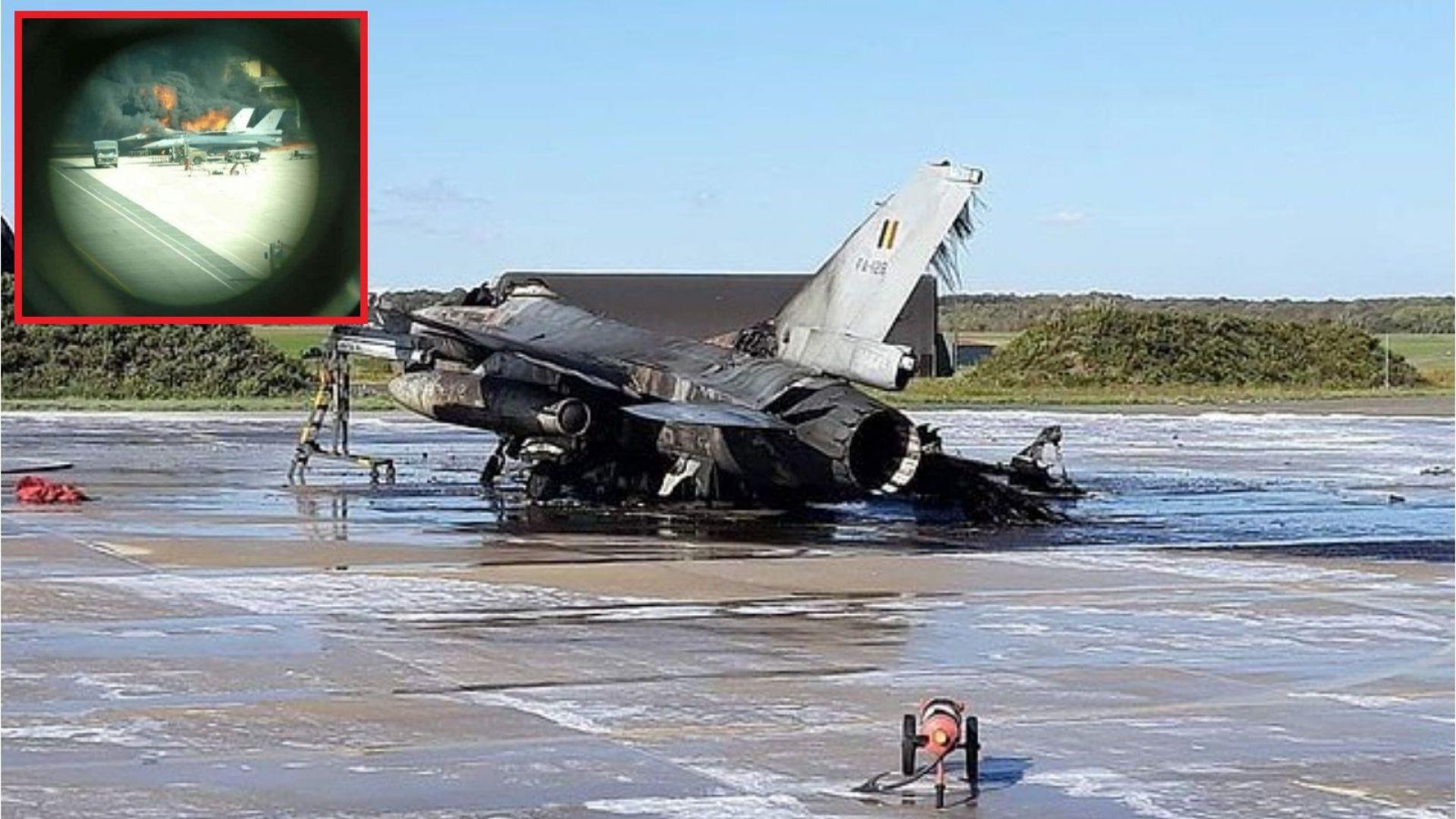 Изстрели, взрив и унищожен F-16 при инцидент със самолети в Белгия