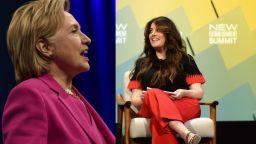 Хилари Клинтън и Моника Люински спориха за Бил Клинтън
