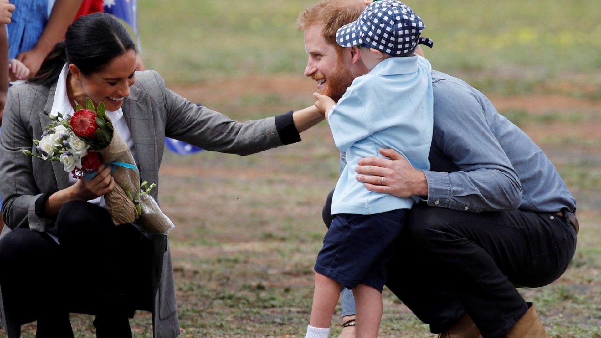 Хари и Меган влюбени до уши в Австралия (снимки)