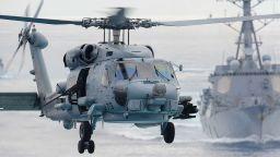 US хеликоптер се разби върху самолетоносач във Филипинско море