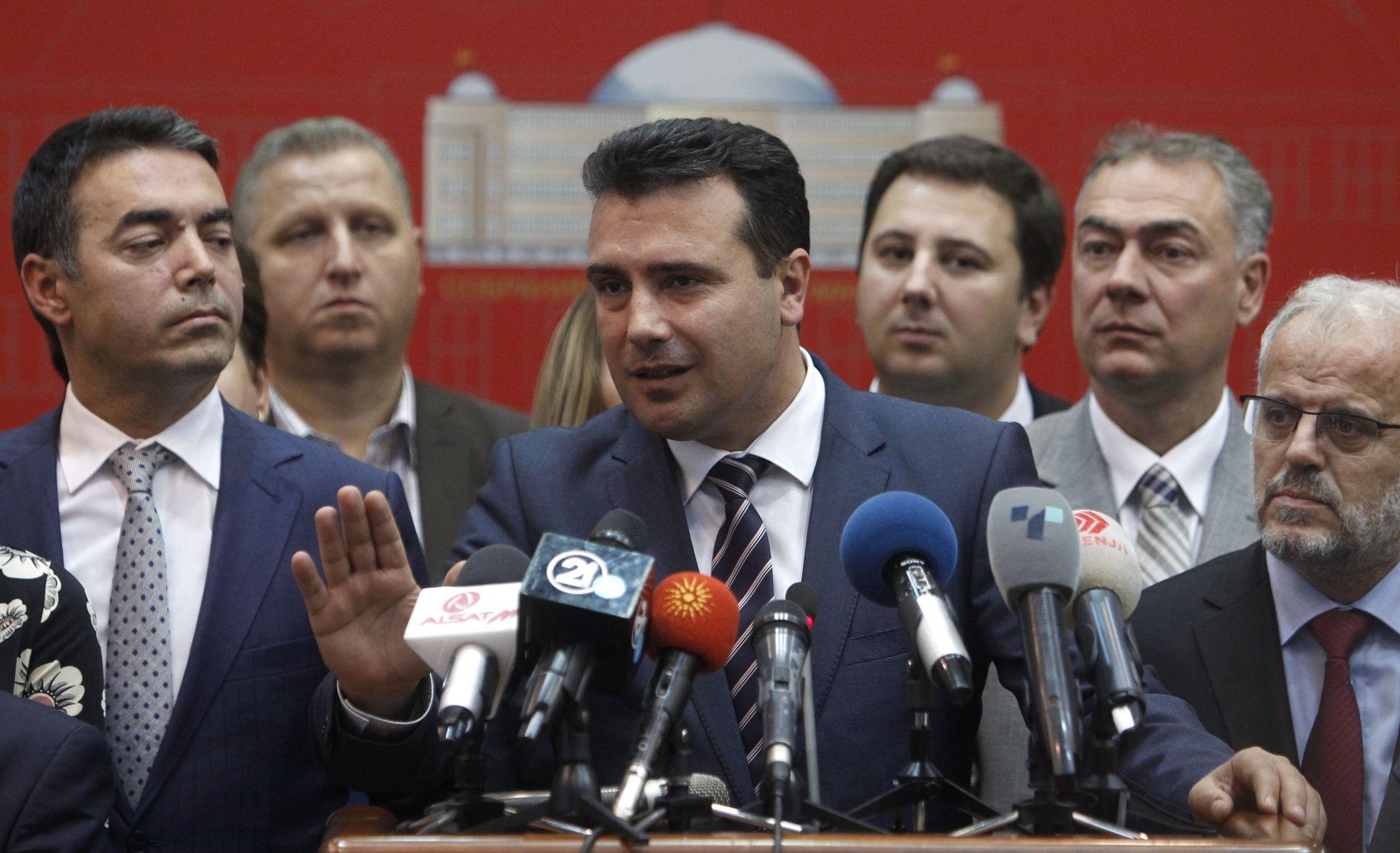 Със силната подкрепа на западните лидери, Заев води кампания за преименуване на бившата югославска република
