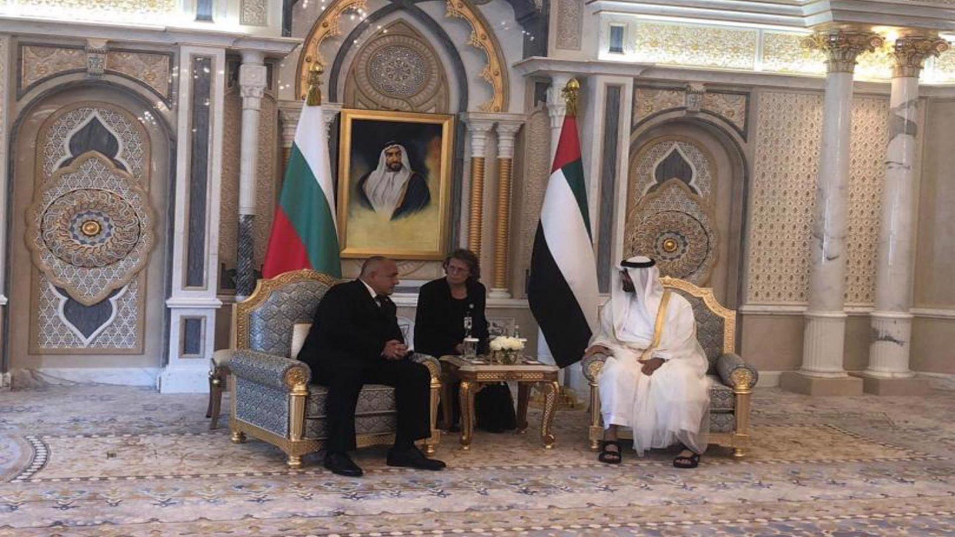 Министър -председателят Бойко Борисов се срещна днес в Абу Даби