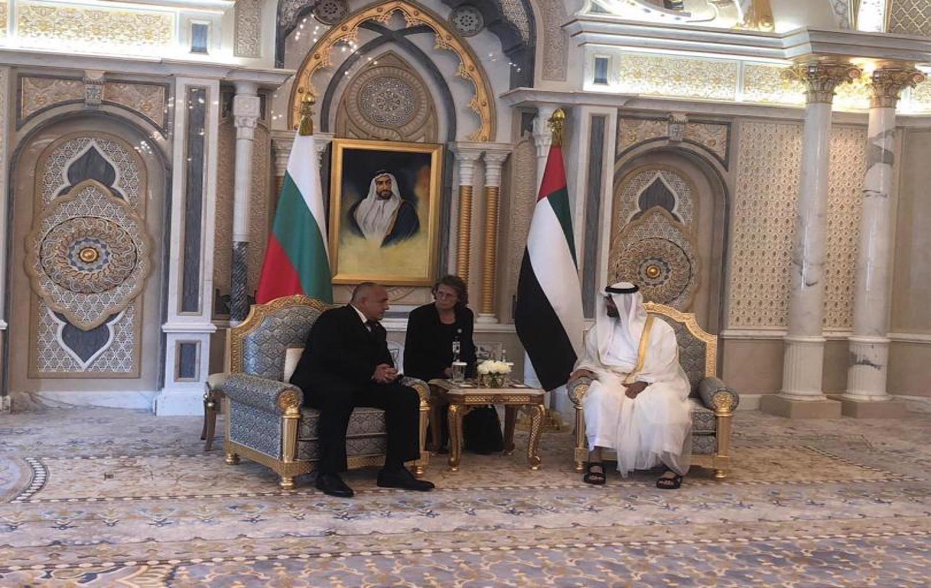 Премиерът се срещна с престолонаследника на Абу Даби и заместник-върховен главнокомандващ въоръжените сили на ОАЕ шейх Мохамед бин Зайед ал Нахаян