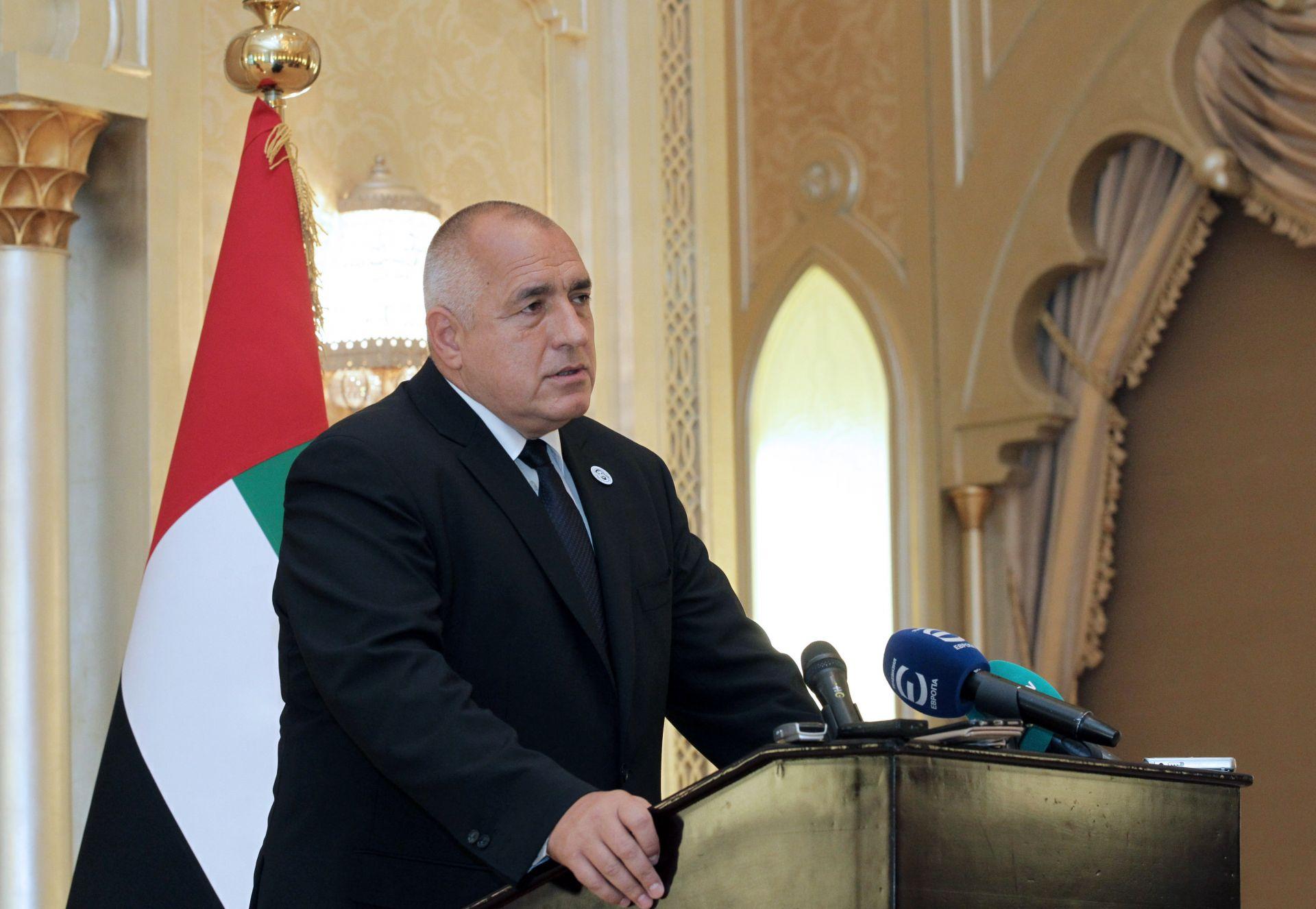 Бойко Борисов на брифинг пред журналистите в ОАЕ