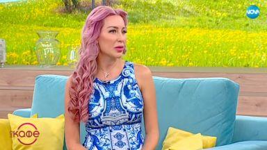Бременната Антония с розова коса, качила само 4 кг