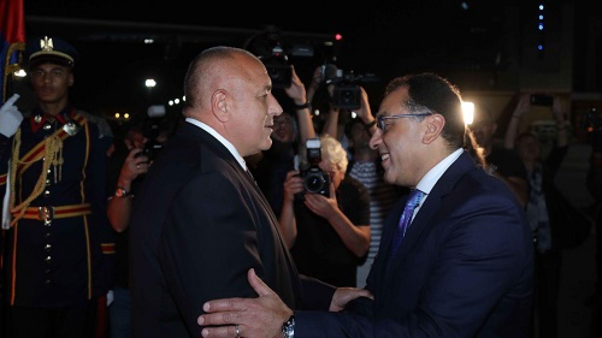 Министър-председателят Бойко Борисов пристигна на официално посещение в Кайро, Египет.