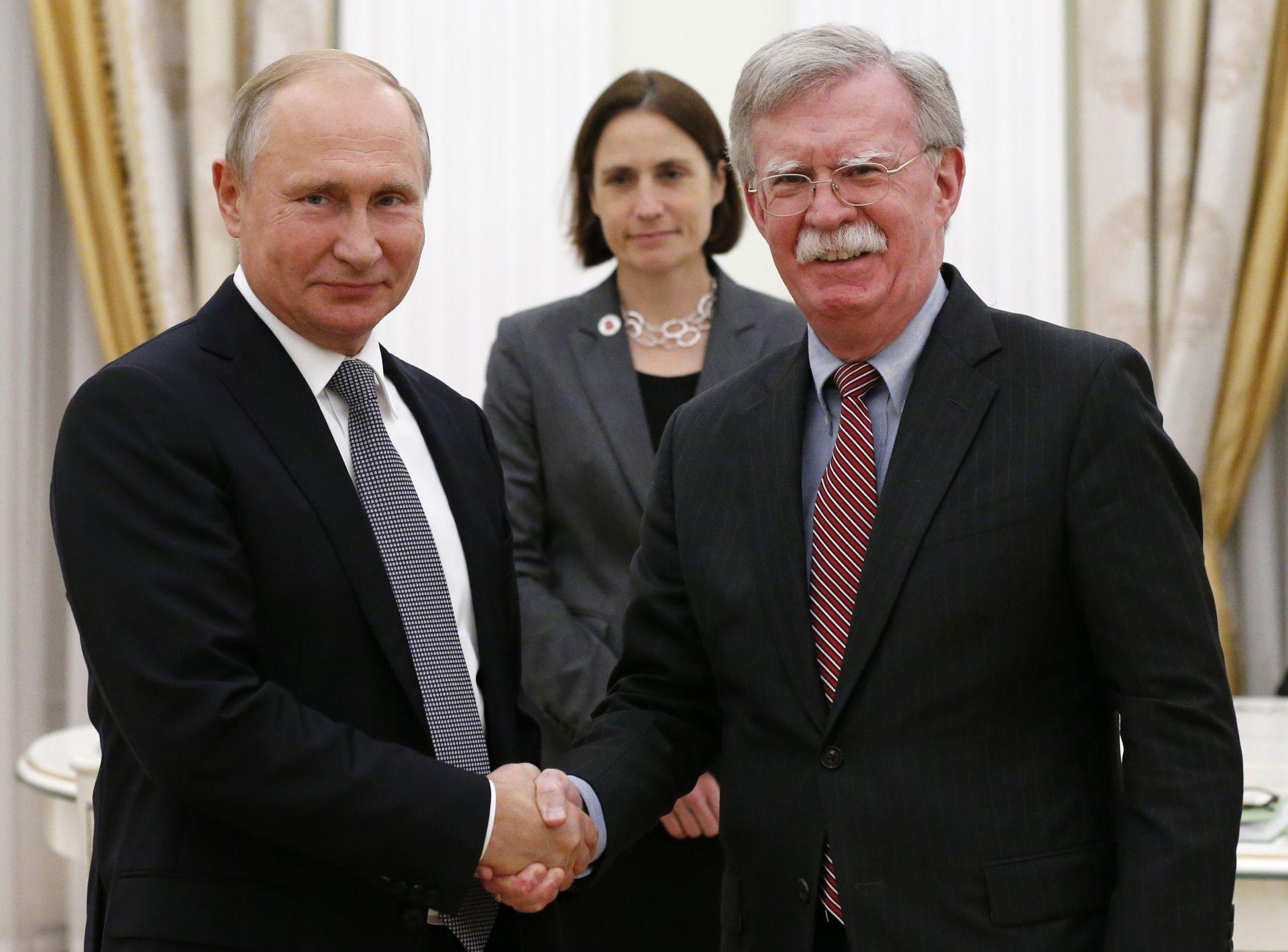 Владимир Путин и Джон Болтън в Москва