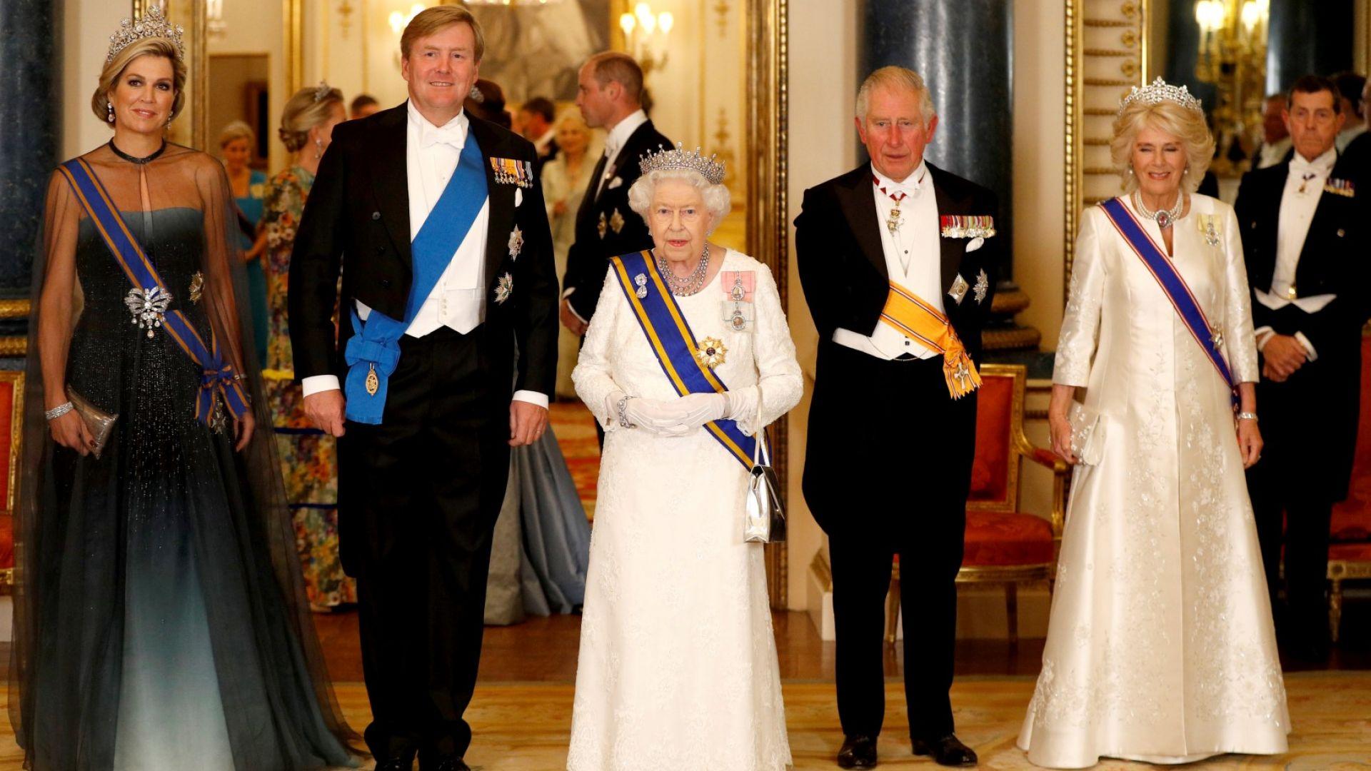Кралски шик на приема в чест на Максима и Вилем-Александър в Бъкингам