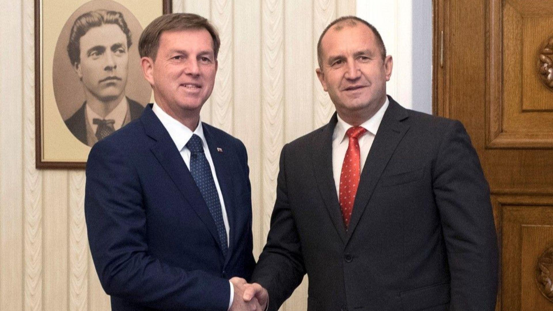 Радев: България и Словения споделят обща отговорност за стабилността на региона