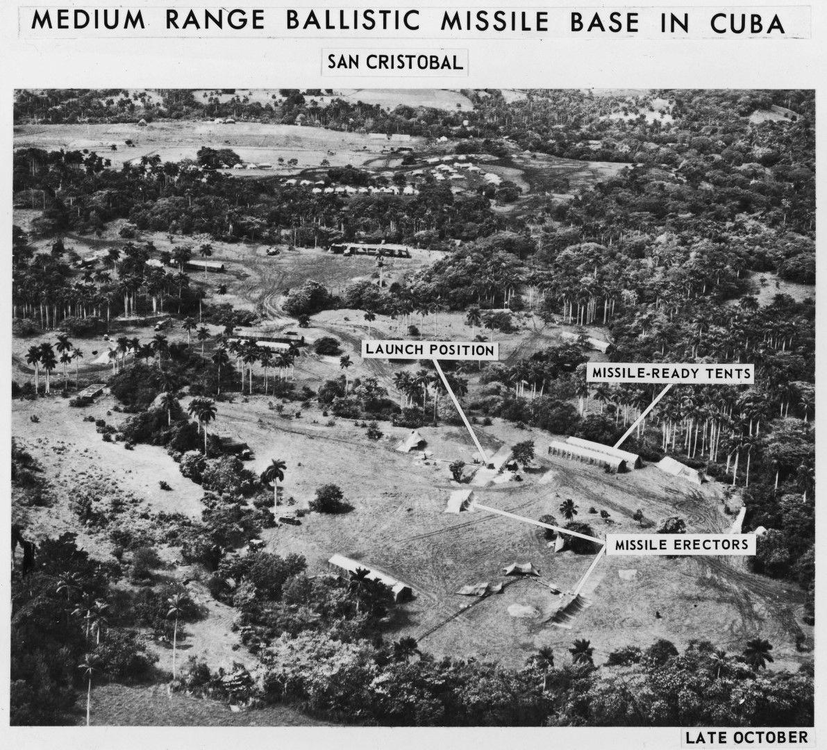 Местата, на които в Куба са разположени ракетните установки