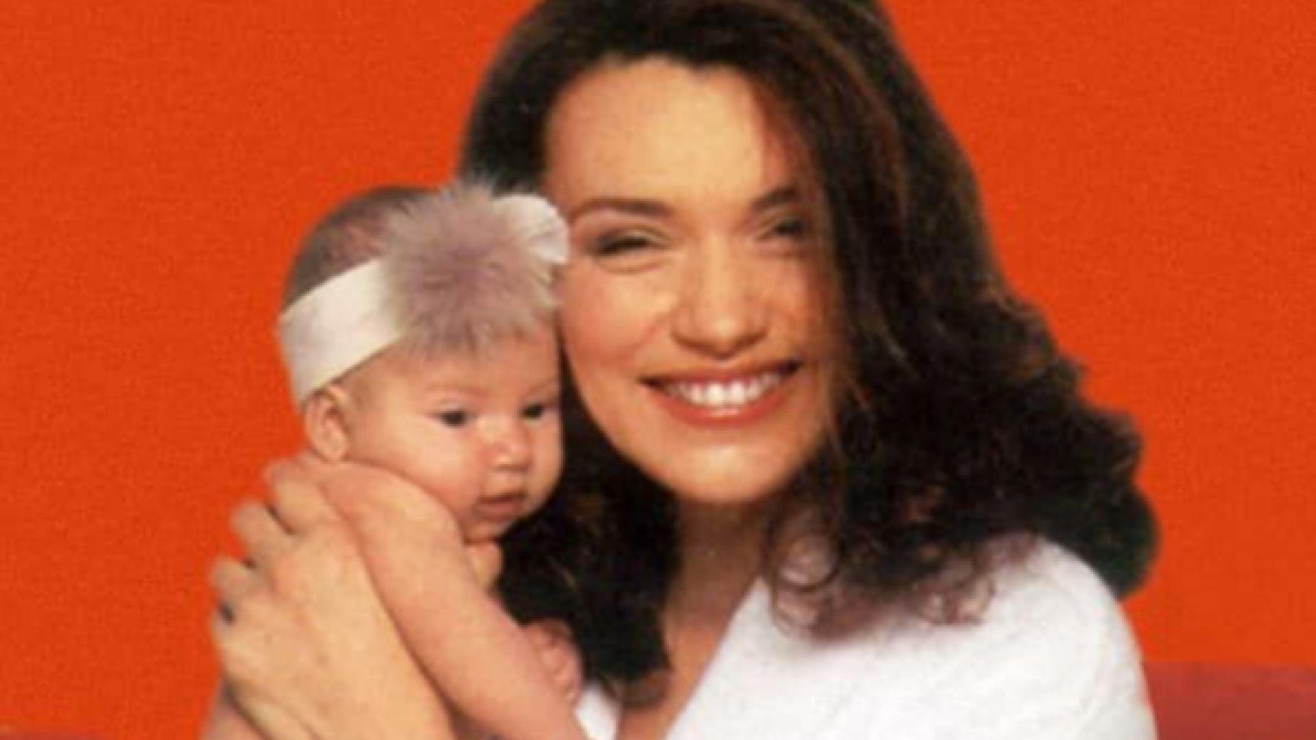 Бел с майка си Биляна Савова
