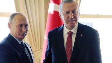 Путин адмирира Ердоган, газът през Турция тръгва догодина