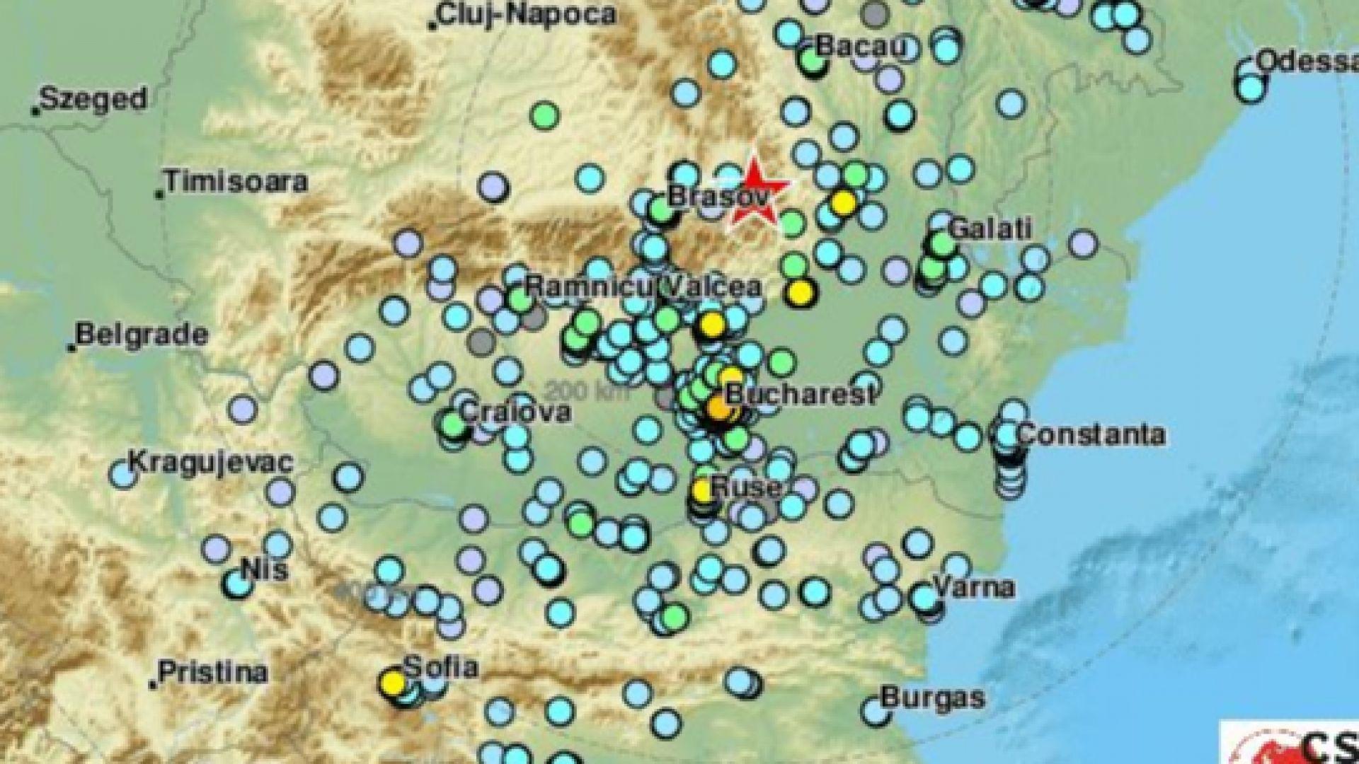 Силно земетресение от 5.7 по Рихтер във Вранча