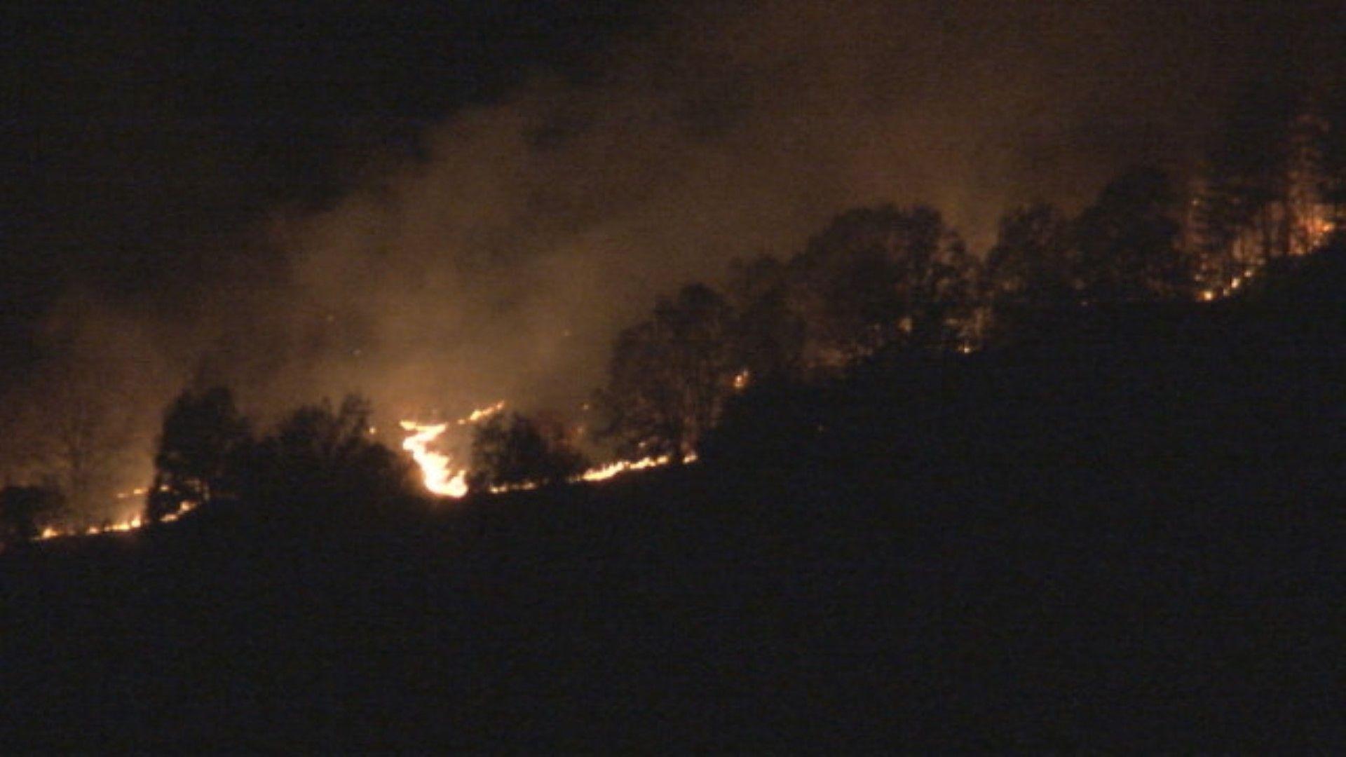 Нов голям пожар, село изкара безсънна нощ