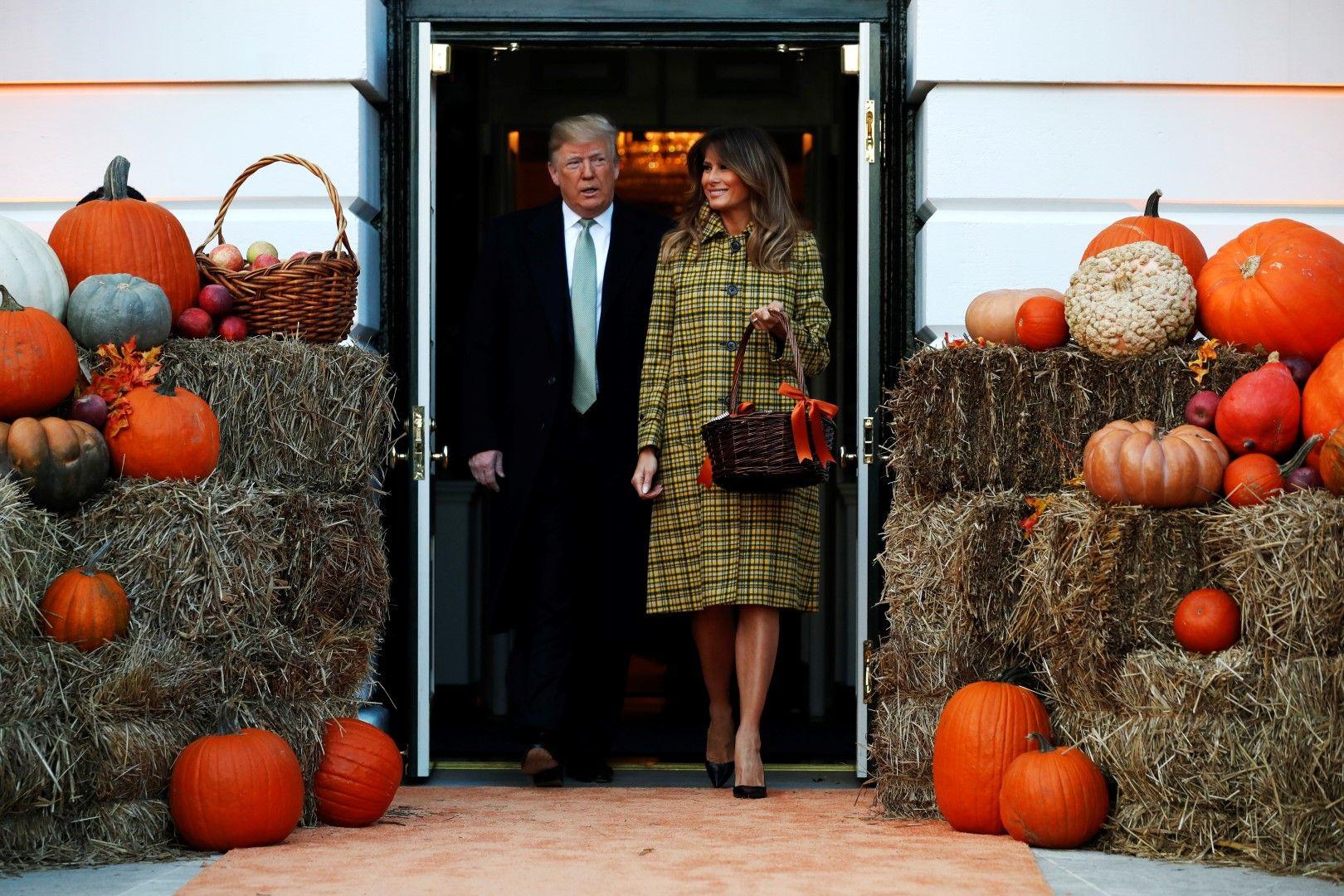 Доналд и Мелания на партито заХелоуин