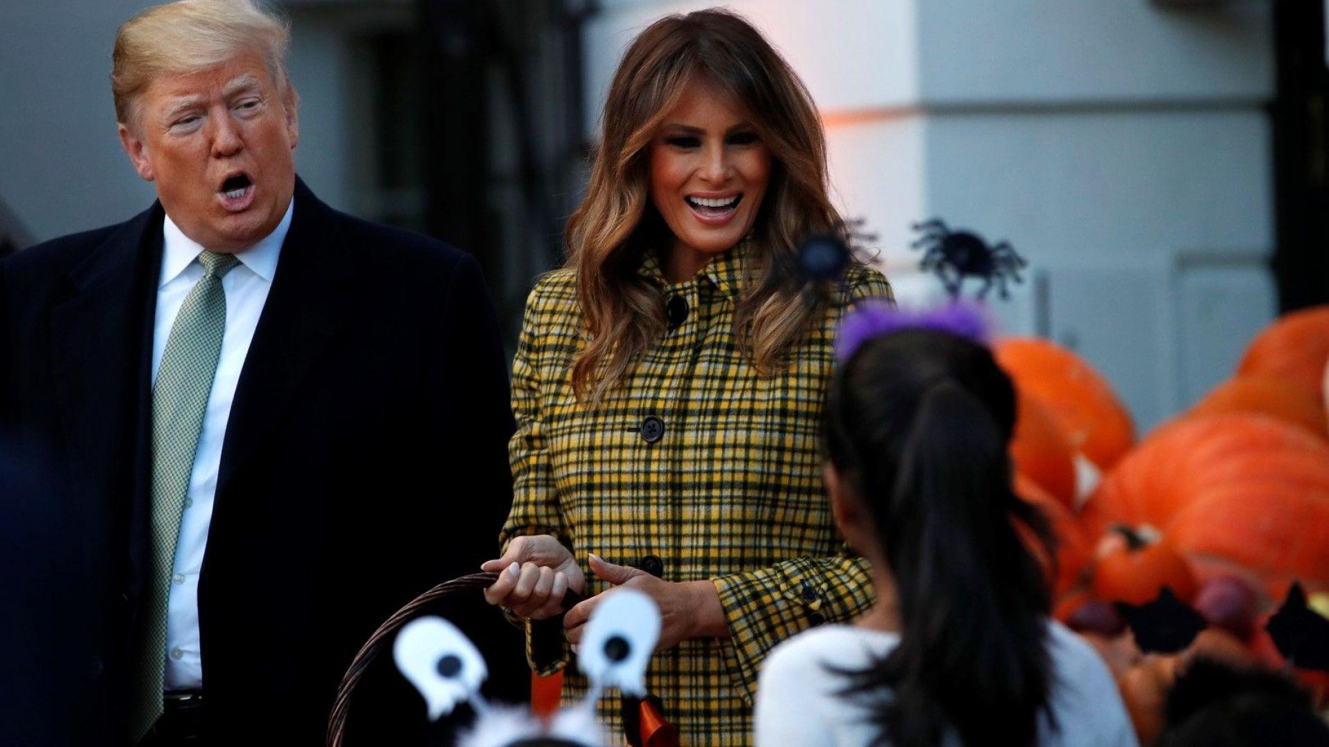 Семейство Тръмп с парти за Хелоуин в Белия дом (снимки)