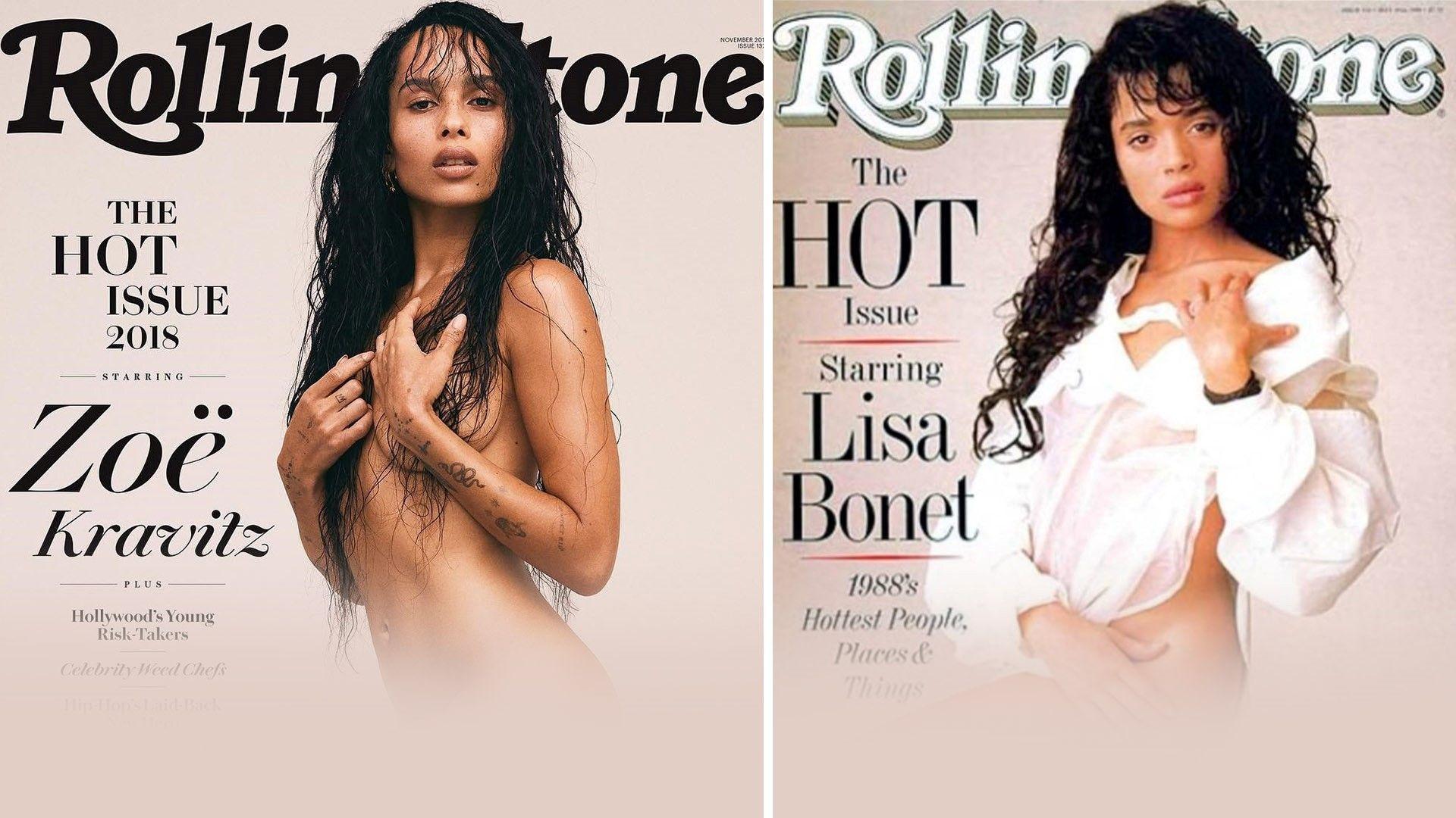 Зоуи Кравиц гола на корицата на Rolling Stone 30 години след майка си