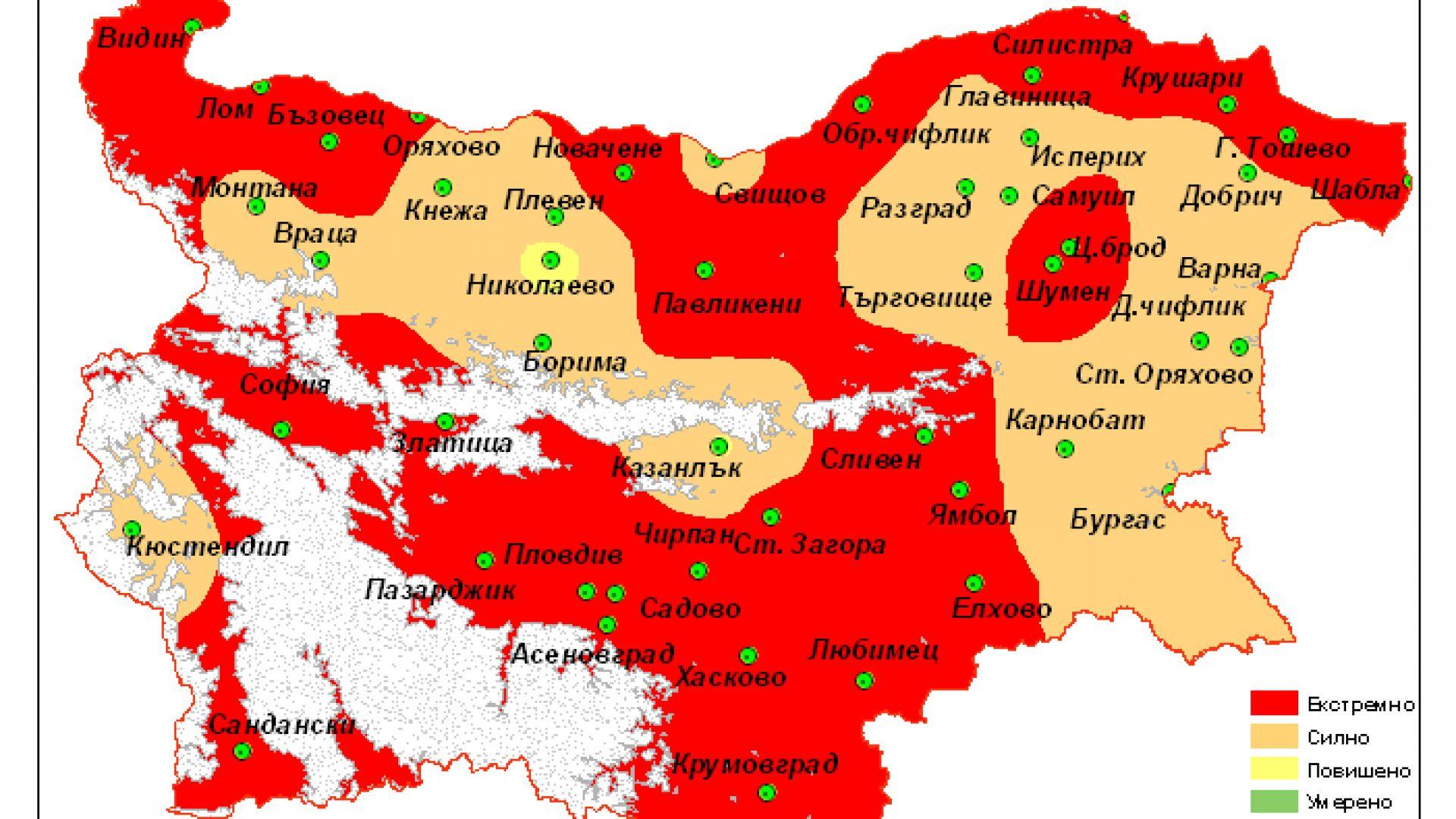 Продължава екстремната суша в Западна България