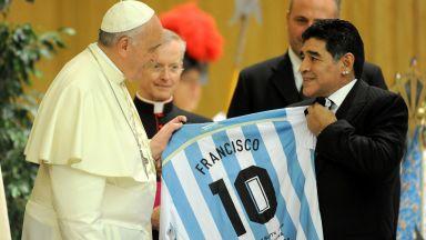 Папата говори за Марадона: Той бе поет на терена и изключително раним човек
