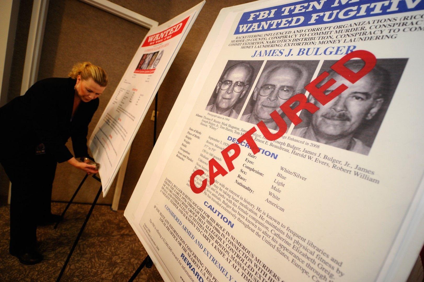 Джеймс Бълджър се укрива дълго от правосъдието, но беше разпознат от съседка и заловен през 2011 г.