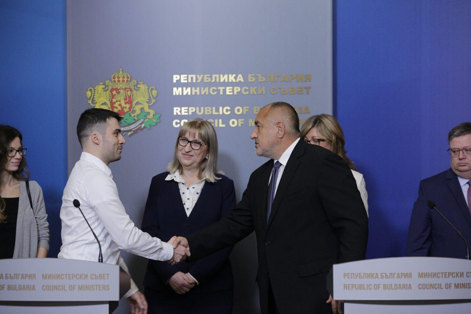 Андреев благодари на премиера