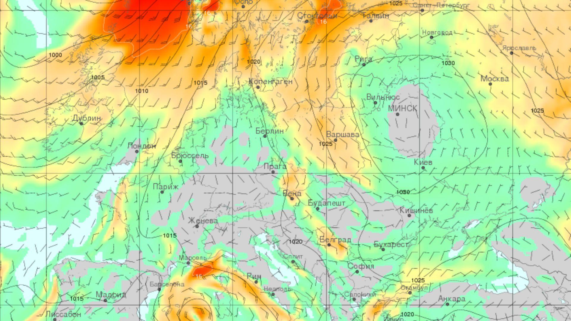 Тропическият циклон Оскар идва към Европа