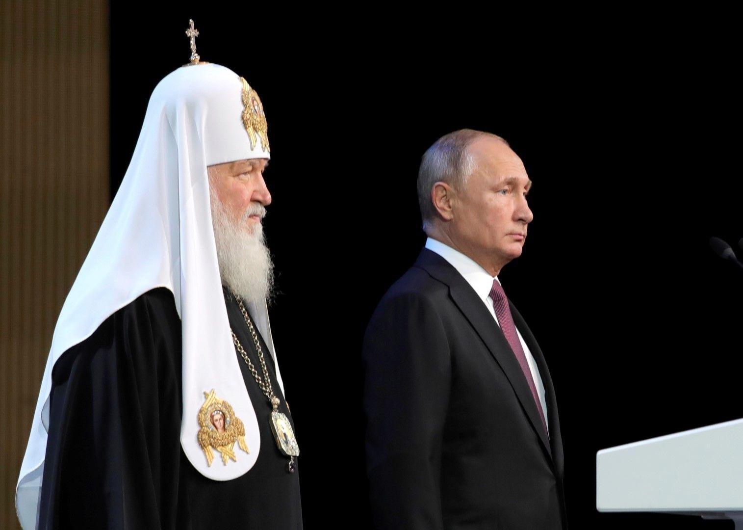 Путин благодари на патриарх Кирил за огромния му принос