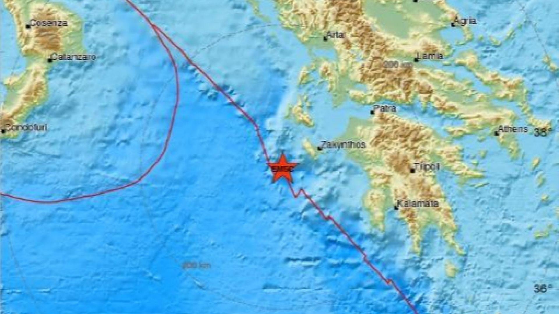 Земетресение с магнитуд 4,3 по Рихтер в Гърция