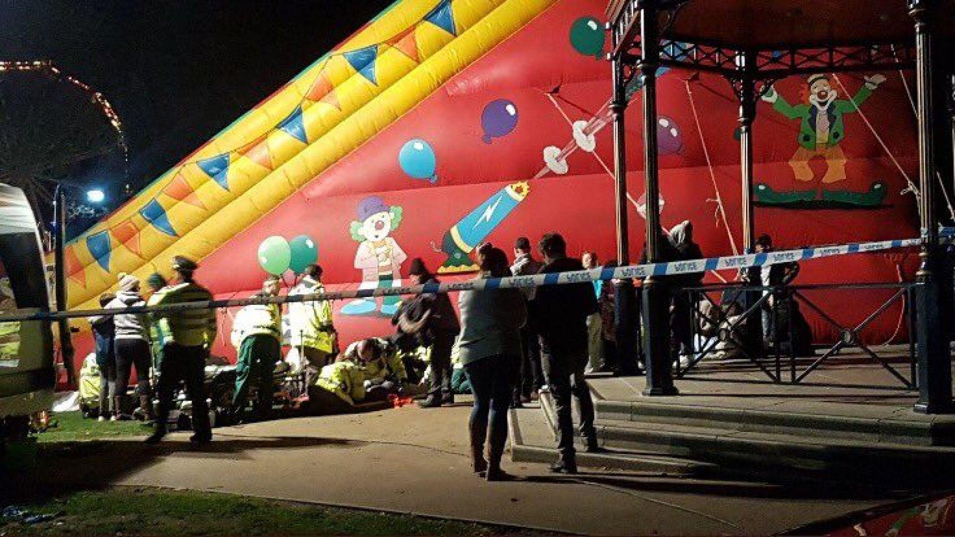 Осем деца пострадаха при инцидент с надуваема пързалка