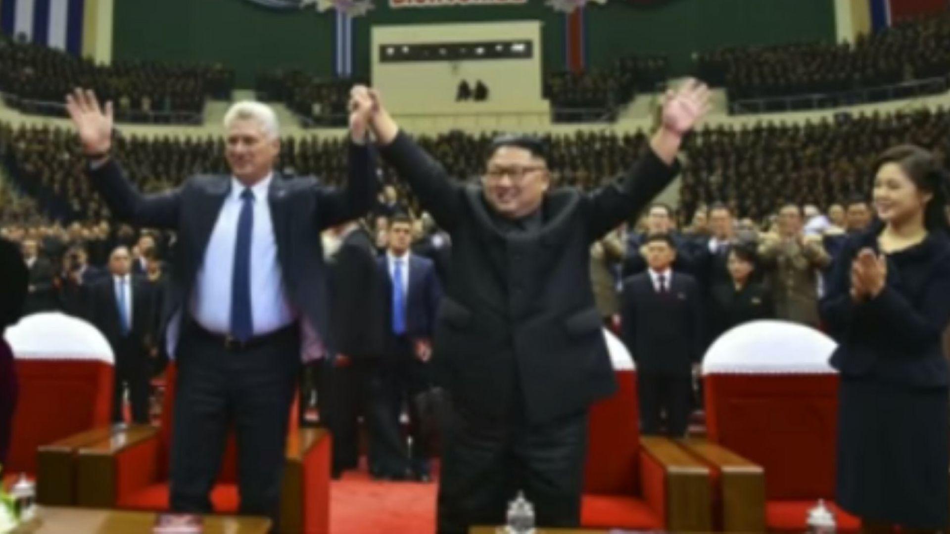 След Путин кубинският президент се срещна и с Ким в Пхенян