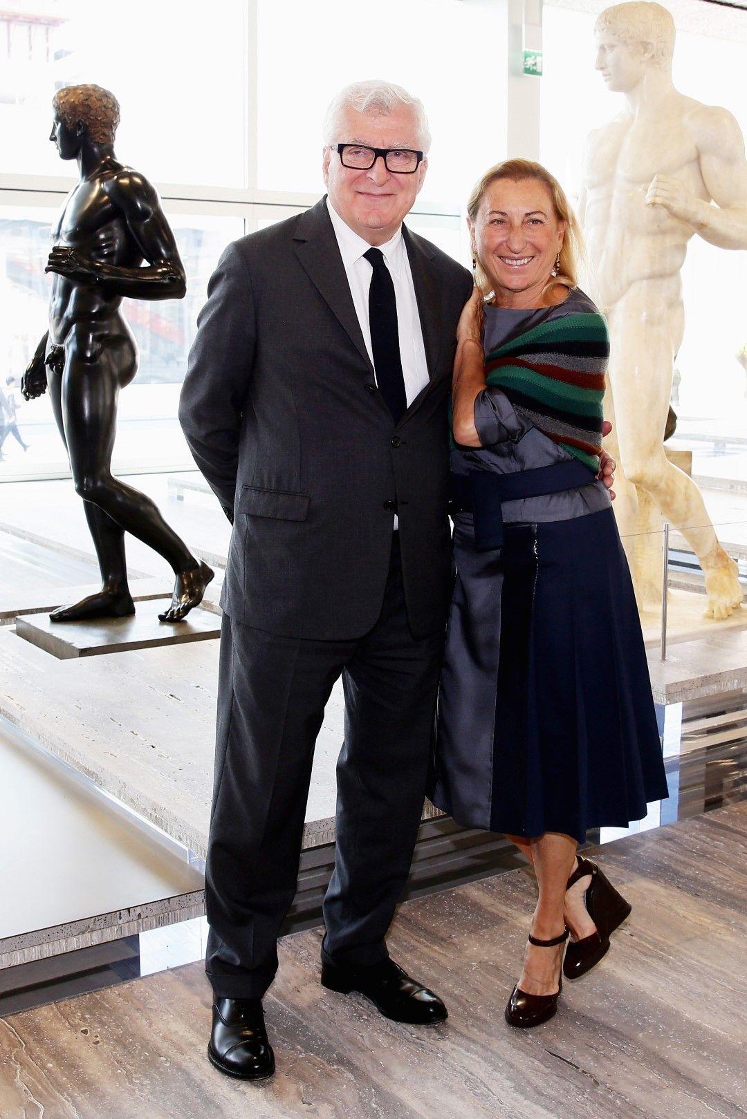 Миуча Прада със съпруга си Патрицио Бертели