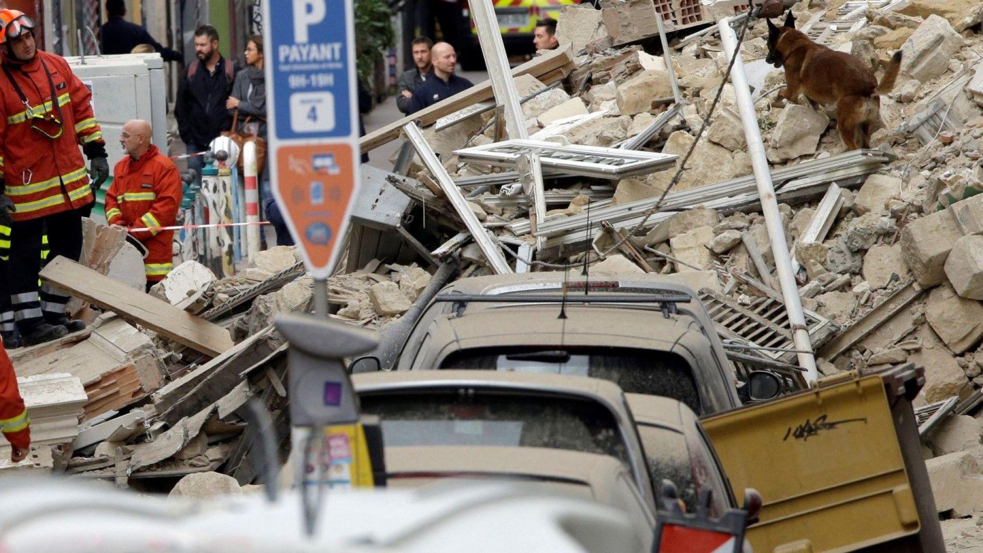 Две сгради се срутиха в Марсилия, има ранени