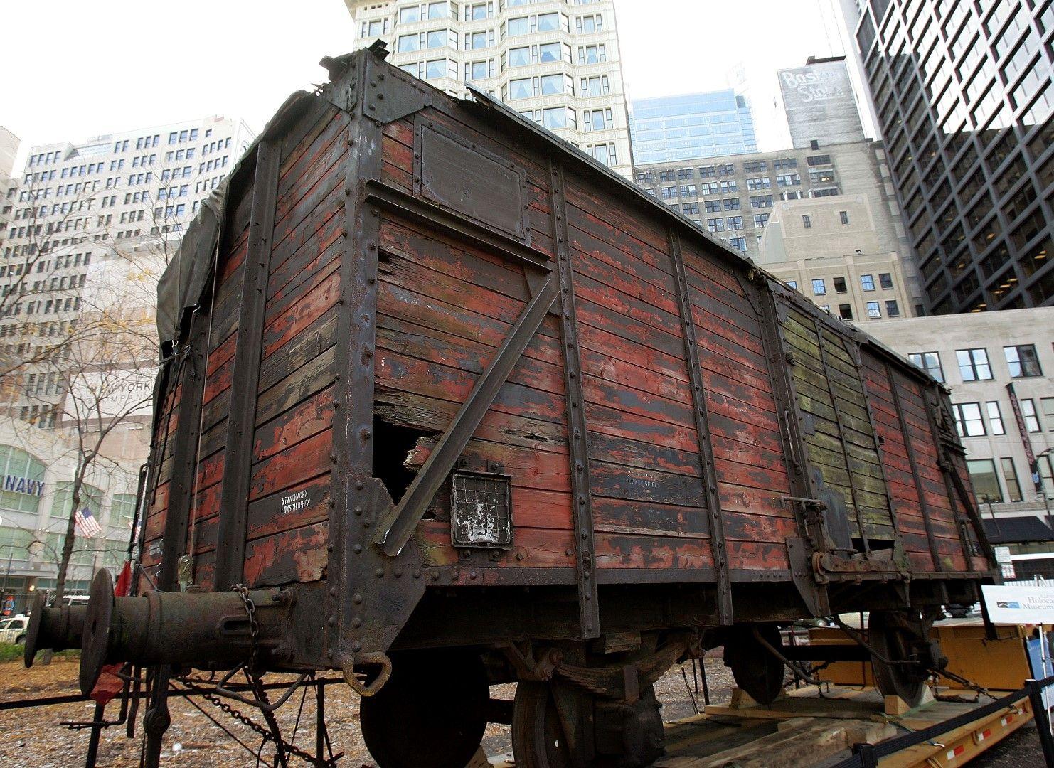 В такива фургони са били натъпкани задържаните евреи