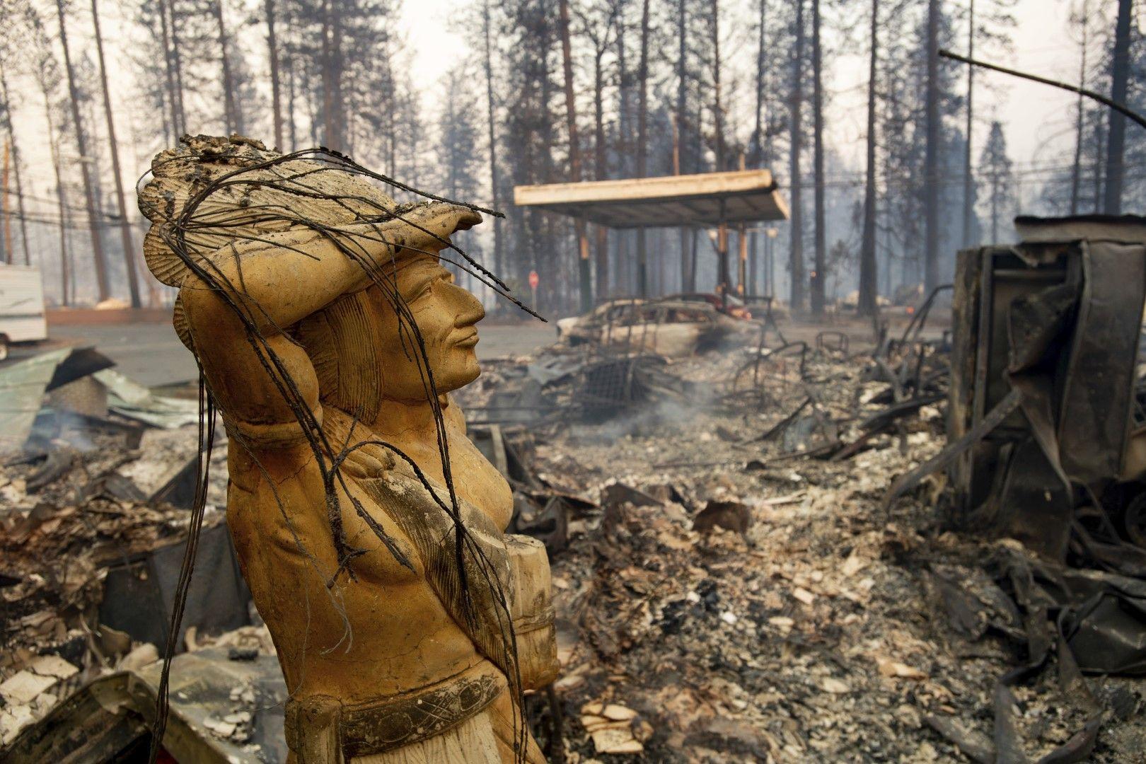"""""""Оцеляла"""" статуя насред горски масив край Парадайс"""