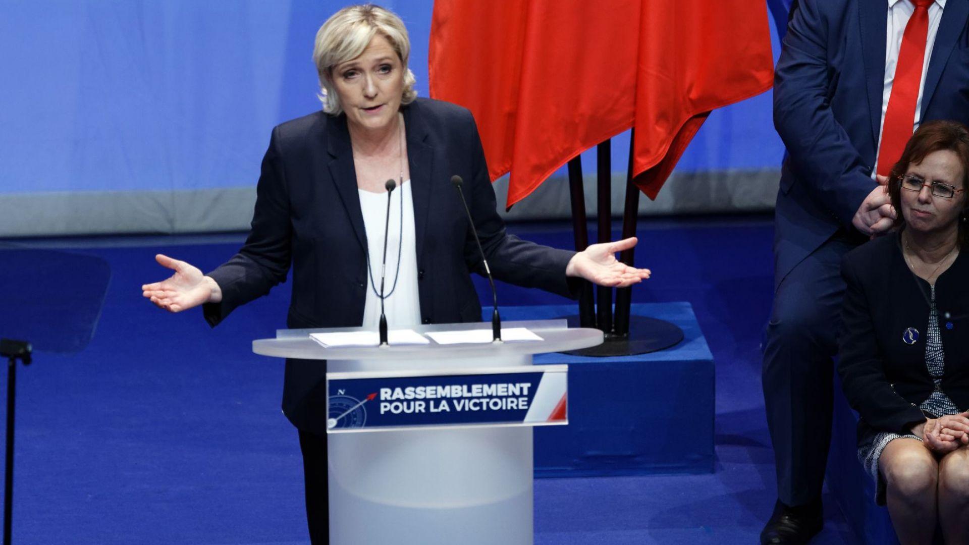 Лидерът на френската крайна десница Марин Льо Пен ще посети