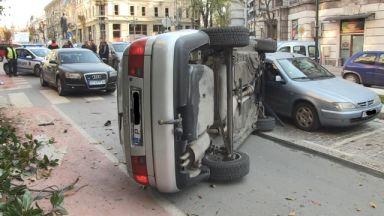 Зрелищна катастрофа в центъра на Русе