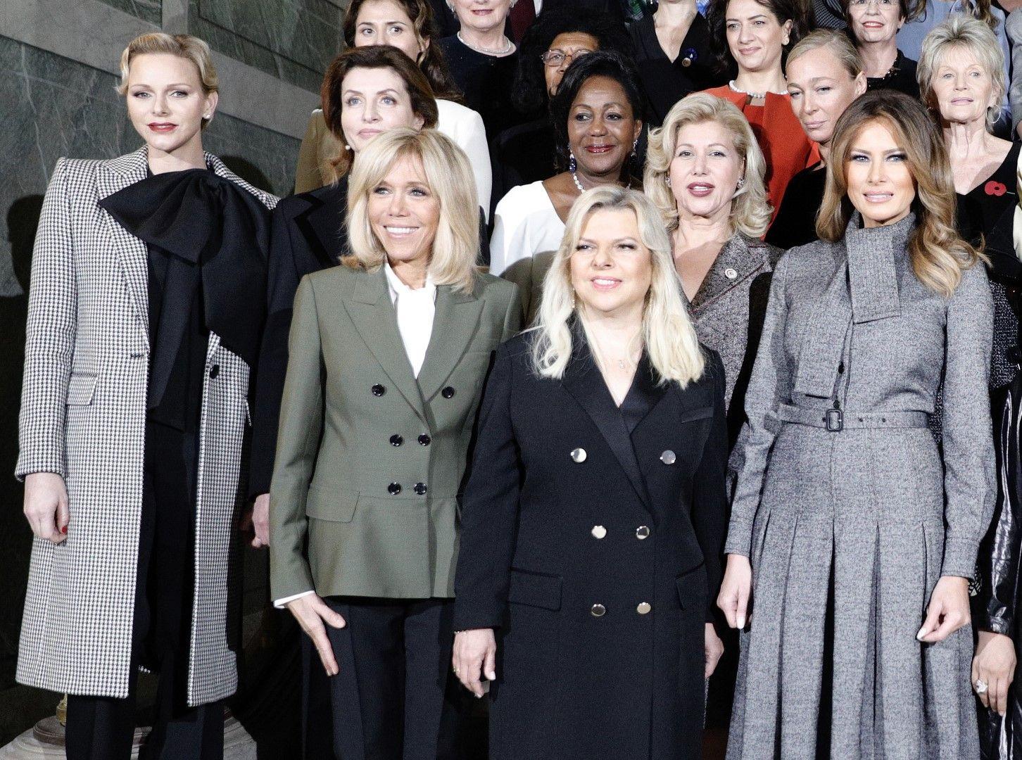 Съпругата на френския президент - Бриджит Макрон, събра първите дами във Версай