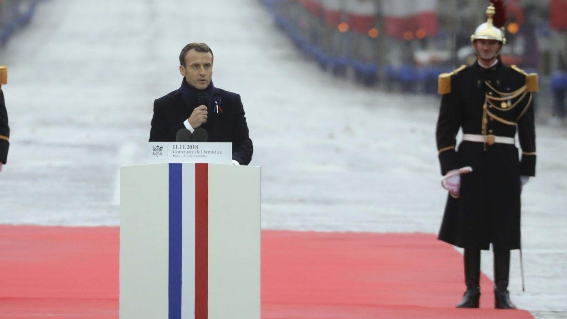 Макрон призова световните лидери да се борят за мир и да отхвърлят национализма