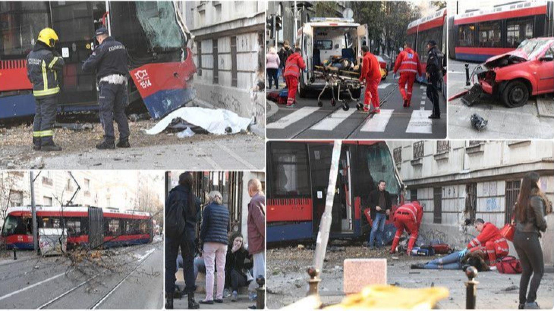 Трамвай взе жертва в Белград, 17 са ранени (снимки/видео)