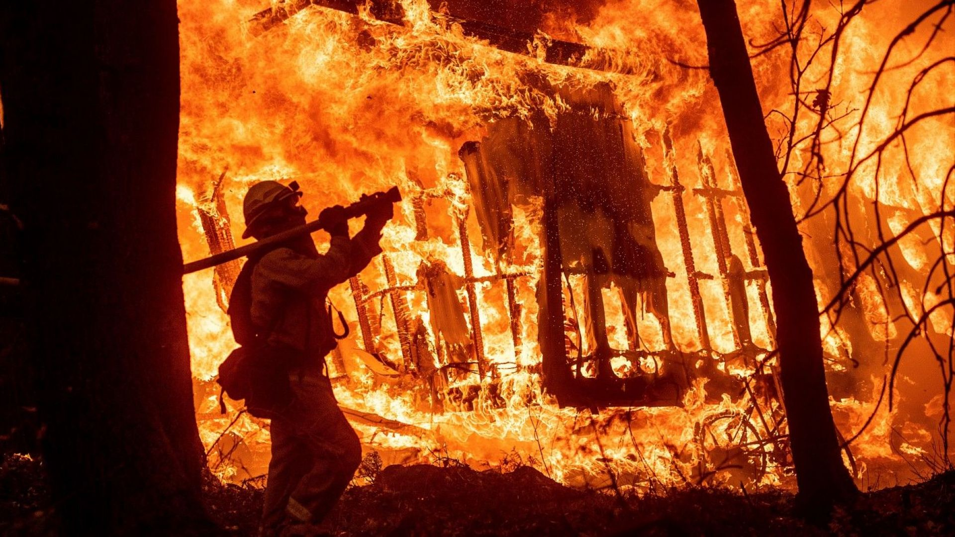 Пожарникарите в Калифорния гневни на Тръмп, жертвите вече са над 30 (видео)